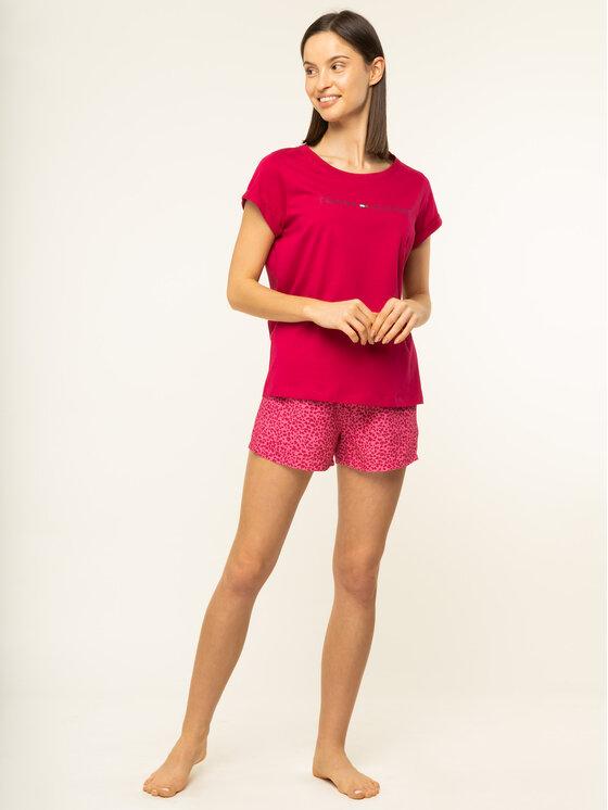 Tommy Hilfiger Tommy Hilfiger Pyjama Shortama Set Valentine UW0UW01936 Rosa