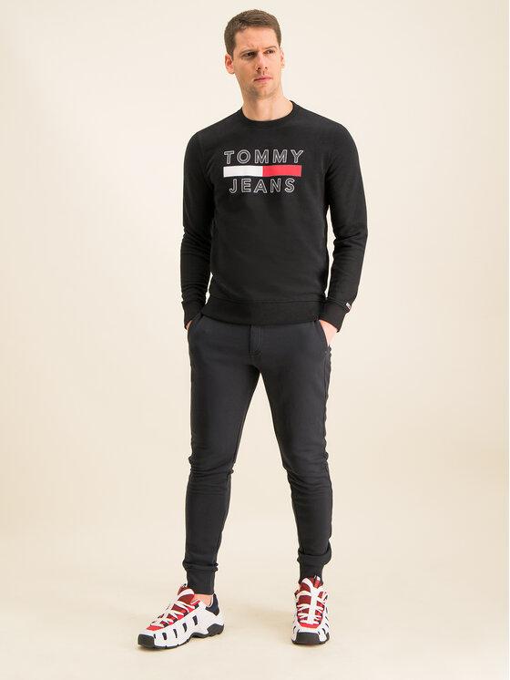 Tommy Jeans Tommy Jeans Mikina Tjm Essential Graphic Crew DM0DM07413 Černá Regular Fit