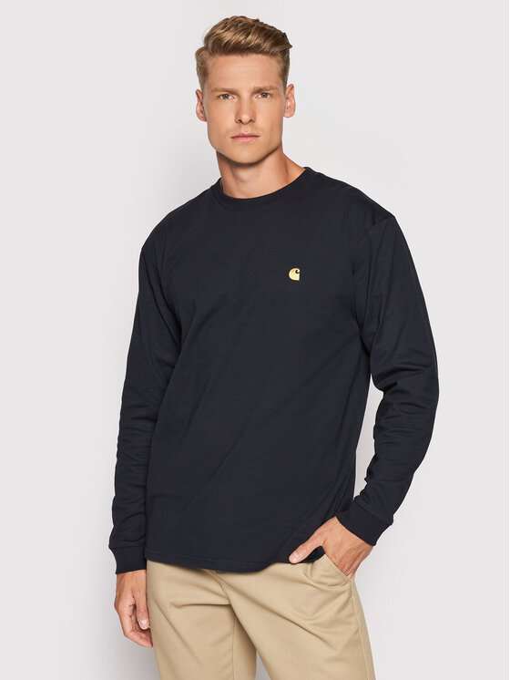 Carhartt WIP Džemperis L/S Chase I026392 Tamsiai mėlyna Loose Fit