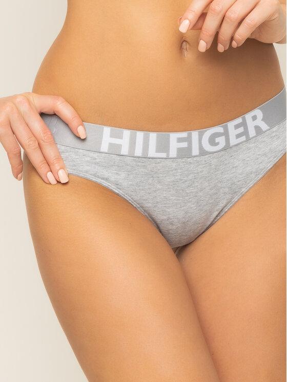 Tommy Hilfiger Tommy Hilfiger Stringové nohavičky 1387905872 Sivá