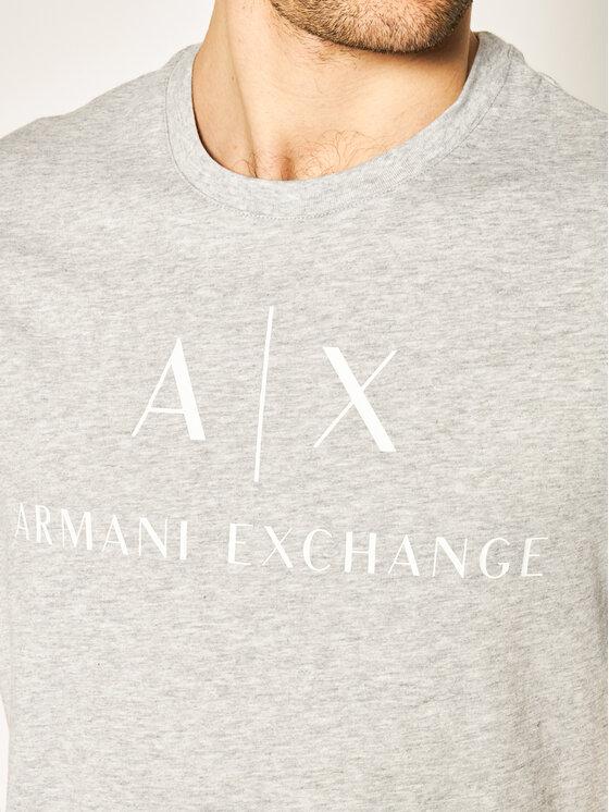 Armani Exchange Armani Exchange Tričko 8NZTCJ Z8H4Z 3929 Sivá Slim Fit