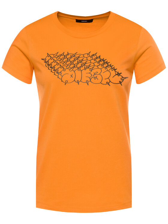 Diesel Diesel T-shirt T-Sily-S6 00SEMF 0HERA Arancione Regular Fit