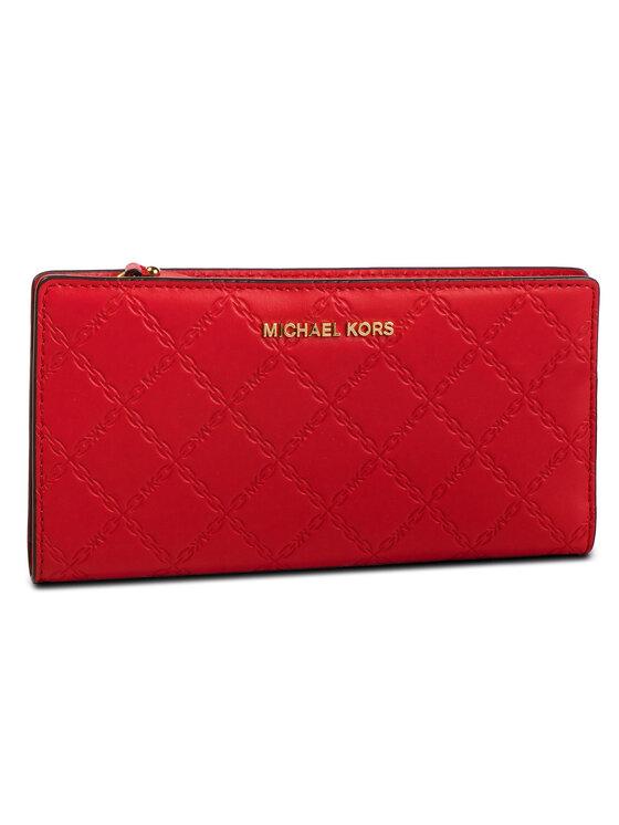 MICHAEL Michael Kors MICHAEL Michael Kors Голям дамски портфейл Money Pieces 32S9GF6D9Y Червен