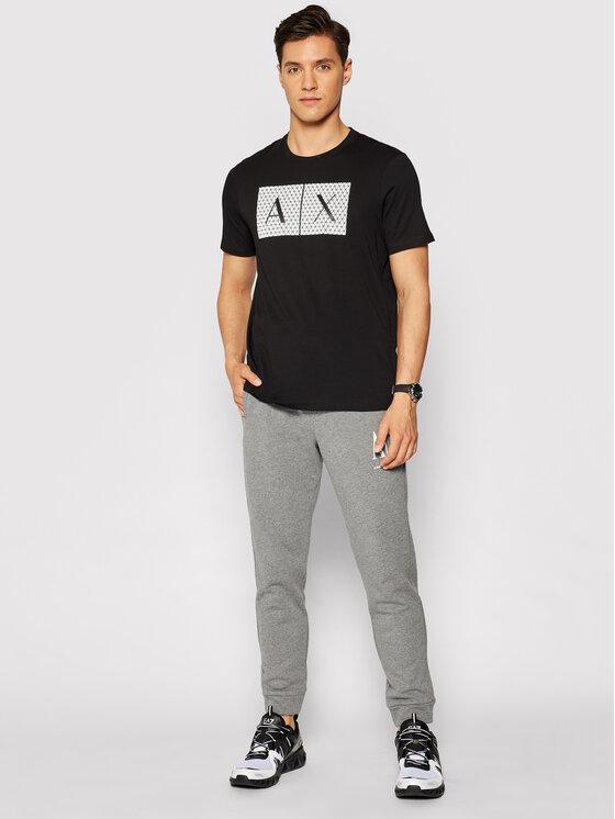 Armani Exchange Armani Exchange Marškinėliai 8NZTCK Z8H4Z 1200 Juoda Slim Fit
