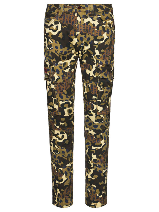 Tommy Jeans Tommy Jeans Pantaloni din material Tjm Scanton Cargo DM0DM07827 Verde Slim Fit