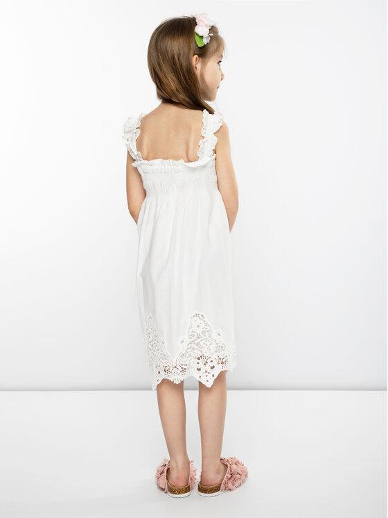 Mayoral Mayoral Elegantné šaty 3940 Biela Regular Fit