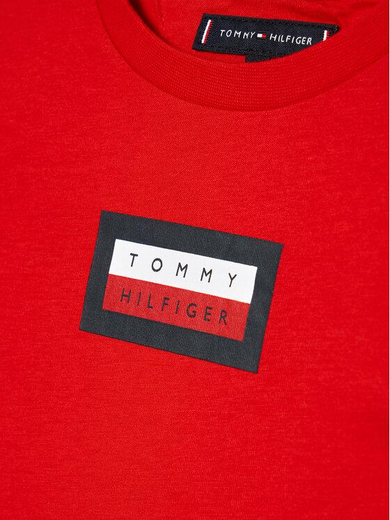 Tommy Hilfiger Tommy Hilfiger T-Shirt Graphic KB0KB06518 D Czerwony Regular Fit