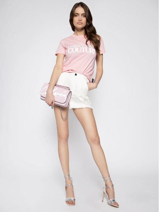 Versace Jeans Couture Versace Jeans Couture Тишърт B2HVA7X0 Розов Regular Fit