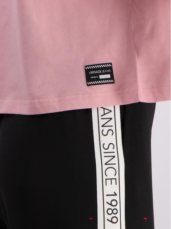 Versace Jeans Versace Jeans Tričko B2HTB7T6 Ružová Regular Fit