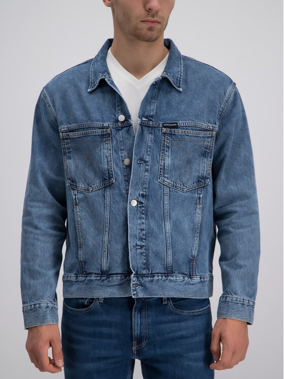 Calvin Klein Jeans Calvin Klein Jeans Kurtka jeansowa J30J311864 Niebieski Regular Fit