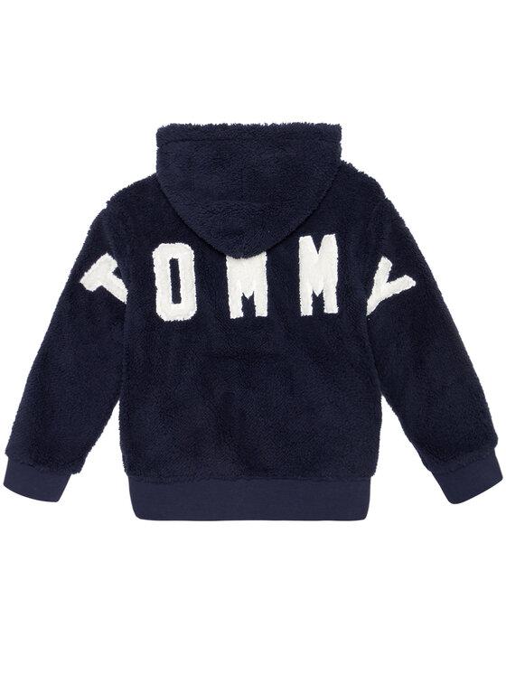 Tommy Hilfiger Tommy Hilfiger Bluza Teddy KS0KS00157 D Granatowy Regular Fit