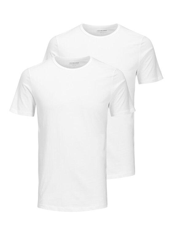 Jack&Jones 2 marškinėlių komplektas Basic Crew Neck 12133913 Balta Regular Fit