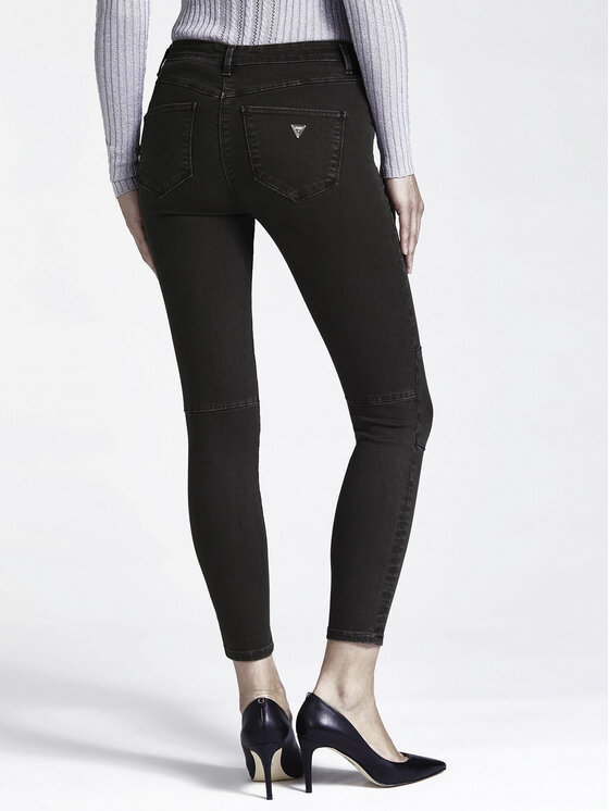 Guess Guess Παντελόνι δερμάτινο W94B72 WBG60 Μαύρο Slim Fit