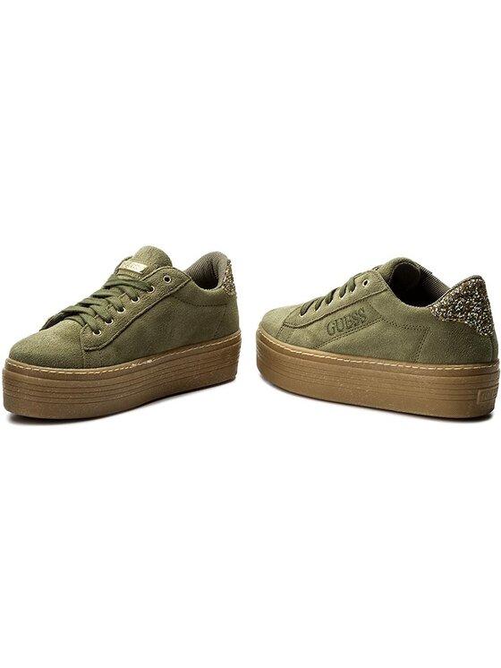 Guess Guess Sneakersy Claris FLCRI4 SUE12 Zielony