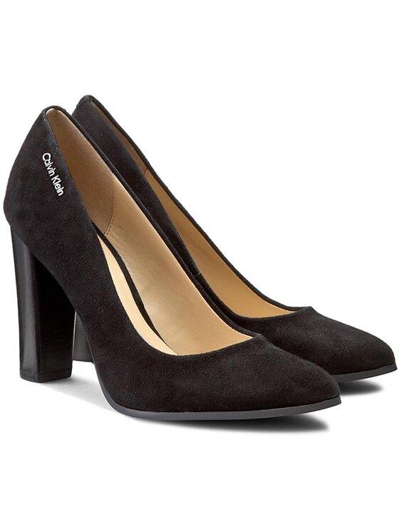 Calvin Klein Calvin Klein Обувки Jyler Kid Suede N11743 Черен