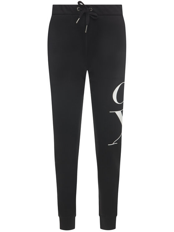 Calvin Klein Jeans Calvin Klein Jeans Pantaloni da tuta Monogram Logo Joggers J20J213011 Nero Regular Fit