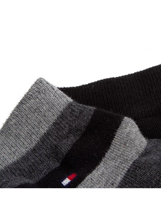 Tommy Hilfiger Tommy Hilfiger Súprava 2 párov členkových pánskych ponožiek 362008001 Sivá