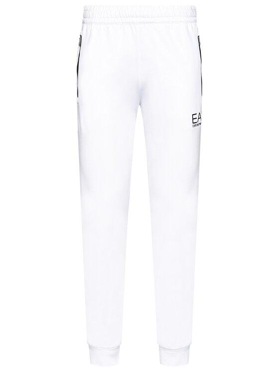 EA7 Emporio Armani EA7 Emporio Armani Spodnie dresowe 3KPP51 PJ05Z 1100 Biały Regular Fit