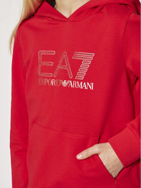 EA7 Emporio Armani EA7 Emporio Armani Bluza 6HFM53 FJ31Z 1472 Czerwony Regular Fit