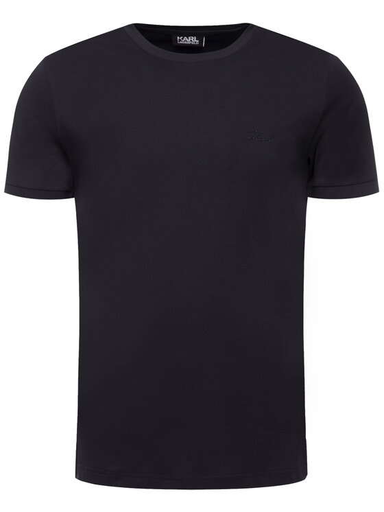 KARL LAGERFELD KARL LAGERFELD T-shirt Crewneck 755012 592218 Blu scuro Regular Fit