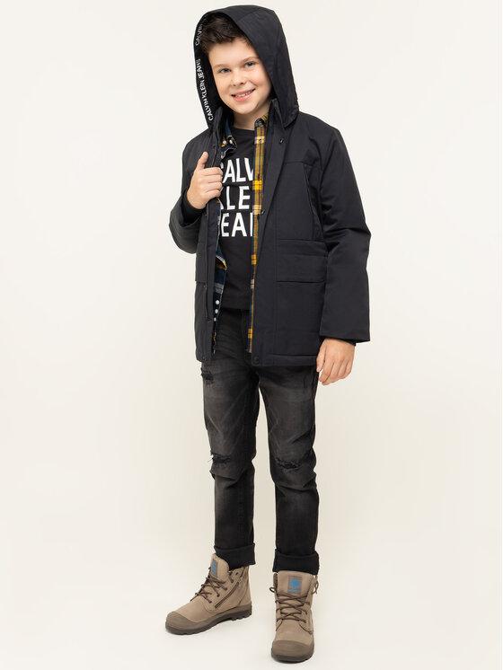 Calvin Klein Jeans Calvin Klein Jeans Kurtka zimowa IB0IB00164005 Czarny Regular Fit