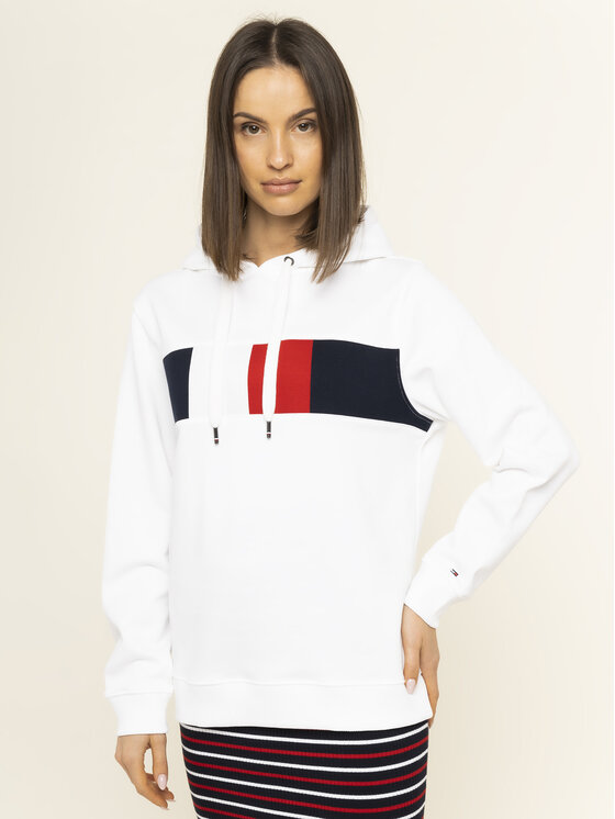 TOMMY HILFIGER TOMMY HILFIGER Džemperis Stella WW0WW26843 Balta Regular Fit