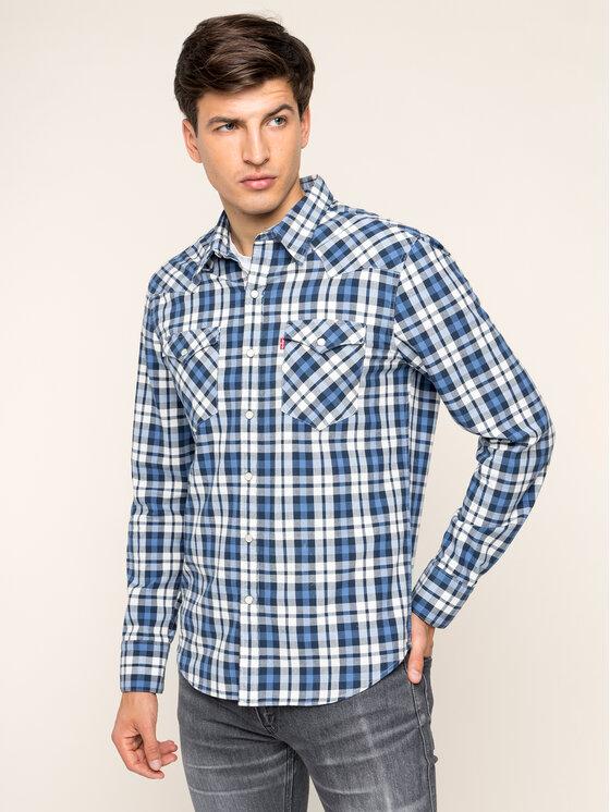 Levi's® Levi's Marškiniai Barstow Denim 65816-0331 Tamsiai mėlyna Slim Fit