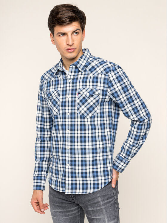 Levi's® Levi's® Koszula Barstow Denim 65816-0331 Granatowy Slim Fit