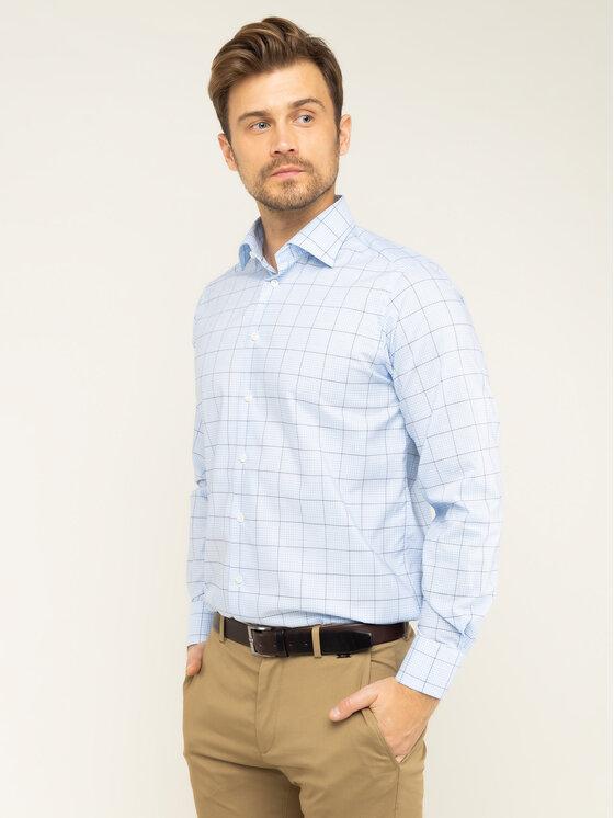 Eton Marškiniai 100000649 Mėlyna Regular Fit
