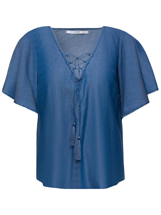 Guess Guess Μπλουζάκι Lia W92H54 D2GZ5 Σκούρο μπλε Regular Fit