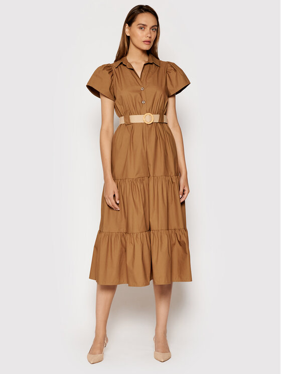 Rinascimento Kasdieninė suknelė CFC0017900002 Ruda Regular Fit