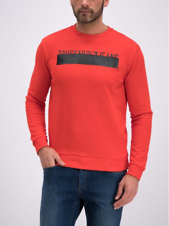 Trussardi Jeans Trussardi Jeans Felpa Round Neck Cotton 52F00085 Rosso Regular Fit