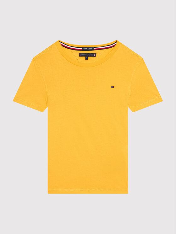 Tommy Hilfiger Tommy Hilfiger T-Shirt Essential Cttn KB0KB06130 D Żółty Regular Fit