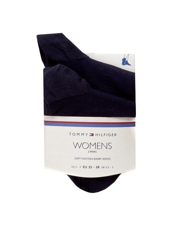 Tommy Hilfiger Tommy Hilfiger Trumpos Moteriškos Kojinės 363002001 Tamsiai mėlyna