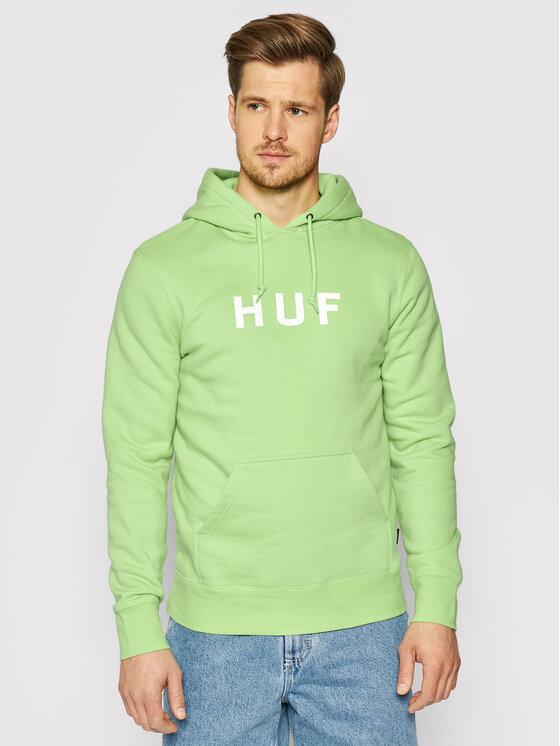 HUF Džemperis Essentials Og Logo PF00099 Žalia Regular Fit