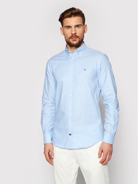 Tommy Hilfiger Tailored Marškiniai Oxford MW0MW16485 Mėlyna Slim Fit