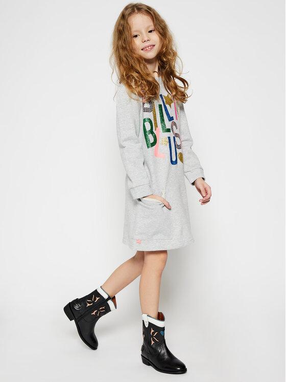 Billieblush Billieblush Sukienka codzienna U12580 Szary Regular Fit