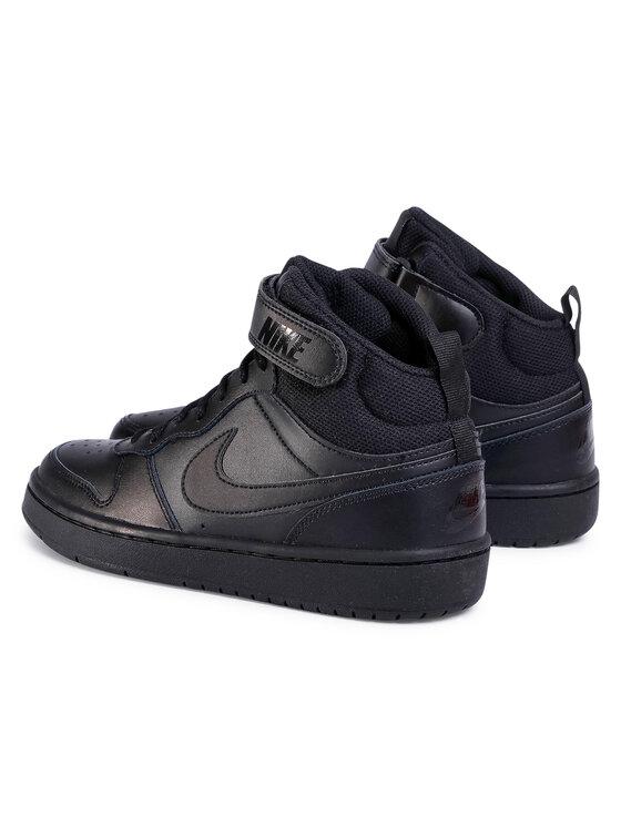 Nike Nike Buty Court Borough Mid 2 (GS) CD7782 001 Czarny