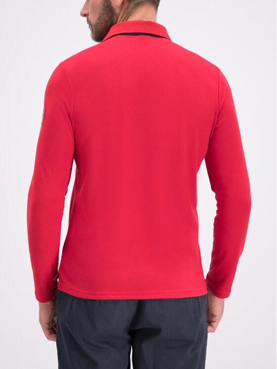 Helly Hansen Helly Hansen Тениска с яка и копчета Skagen Quickdry 34046 Червен Regular Fit