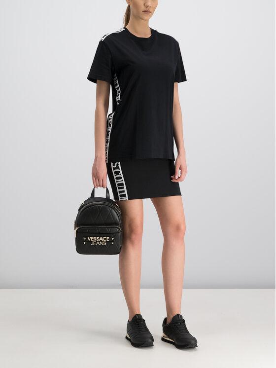 Versace Jeans Couture Versace Jeans Couture Tričko B3GUA7S2 Čierna Regular Fit