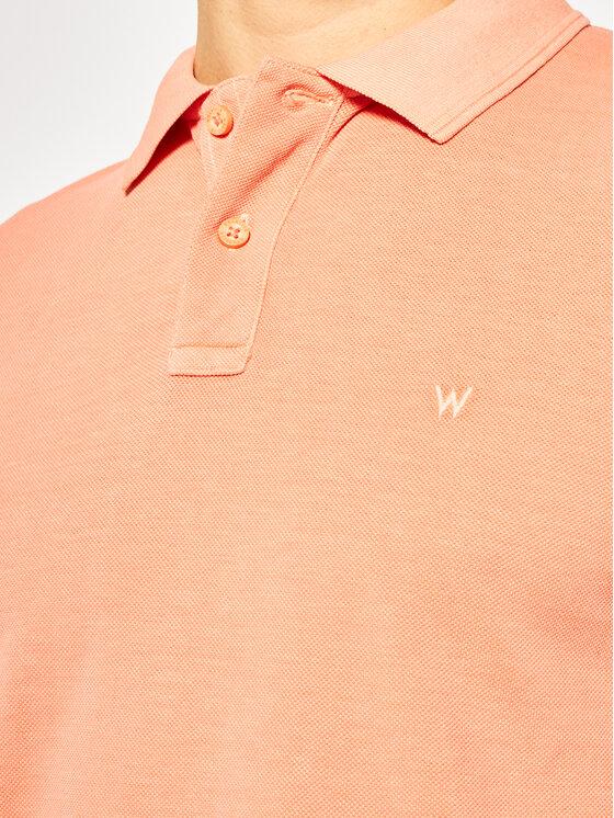Wrangler Wrangler Polokošile Overdye W7F4KQA04 Oranžová Regular Fit