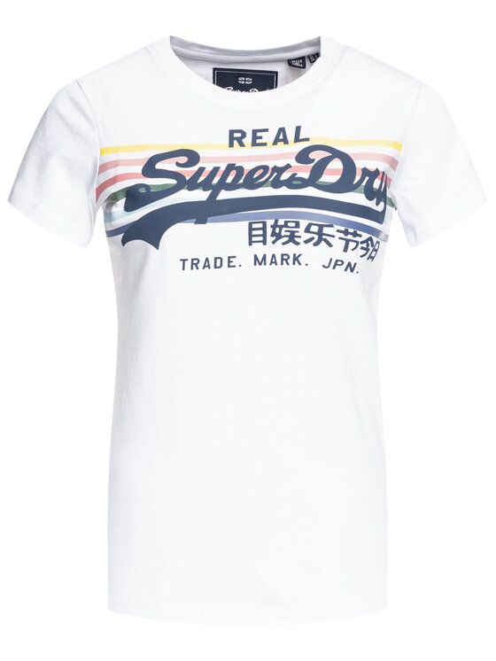 Superdry Superdry Póló W1000049B Fehér Slim Fit