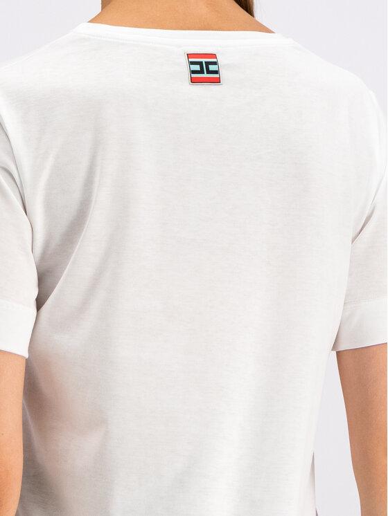 Elisabetta Franchi Elisabetta Franchi T-Shirt MA-12C-96E2-V109 Biały Regular Fit