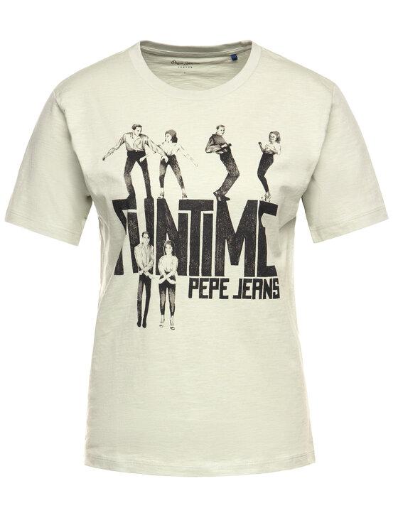 Pepe Jeans Pepe Jeans T-Shirt Cinamon PL504348 Zielony Regular Fit