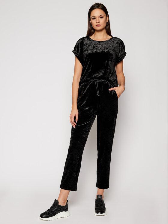 DKNY DKNY Bluzka P0JA5GED Czarny Regular Fit