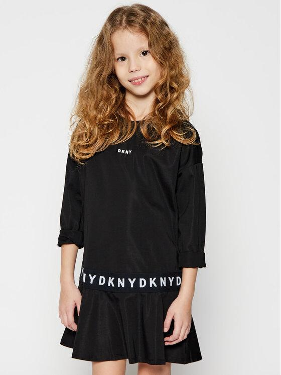 DKNY DKNY Sukienka codzienna D32761 S Czarny Regular Fit