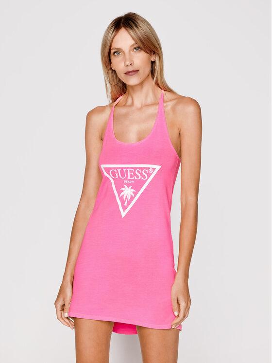 Guess Sukienka plażowa E02I02 JA911 Różowy Regular Fit
