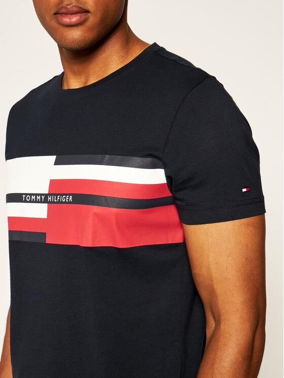 Tommy Hilfiger Tommy Hilfiger T-Shirt Abstract Stripe Tee MW0MW13332 Σκούρο μπλε Regular Fit