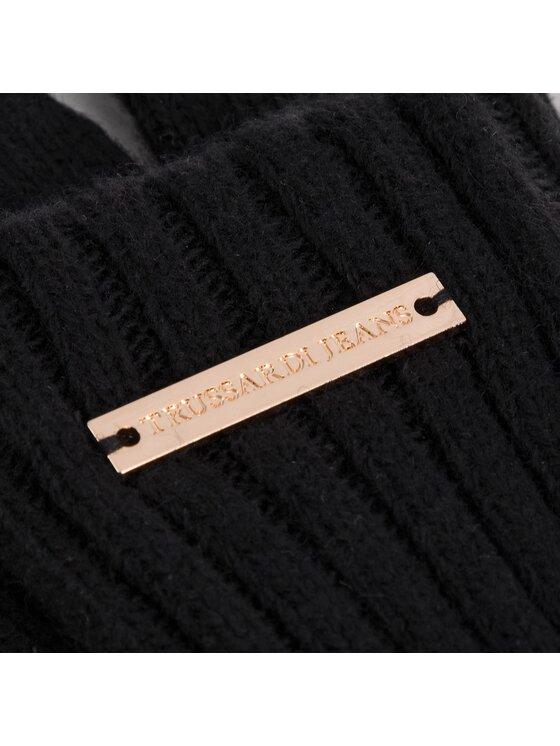 Trussardi Trussardi Rękawiczki Damskie Gloves Rib Knitted 59Z00076 Czarny