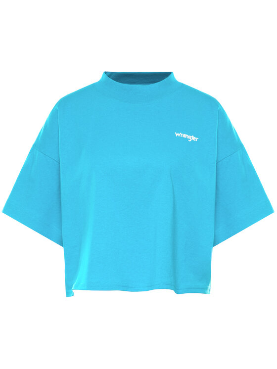 Wrangler Wrangler T-Shirt 90s Tee W7Q4GFB13 Modrá oversize